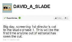 David Slade Actualiza su twitter