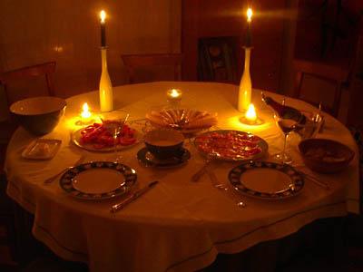 Como un angel caido 2 maravillosa mentira - Cena romantica in casa ...