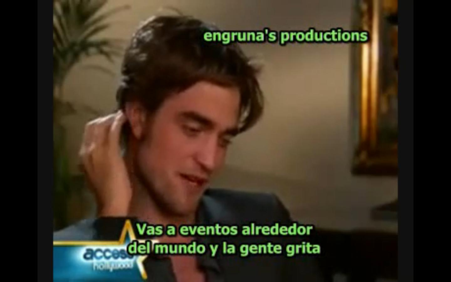 Twilight - Rob Pattinson en Access Hollywood (p1) subs español