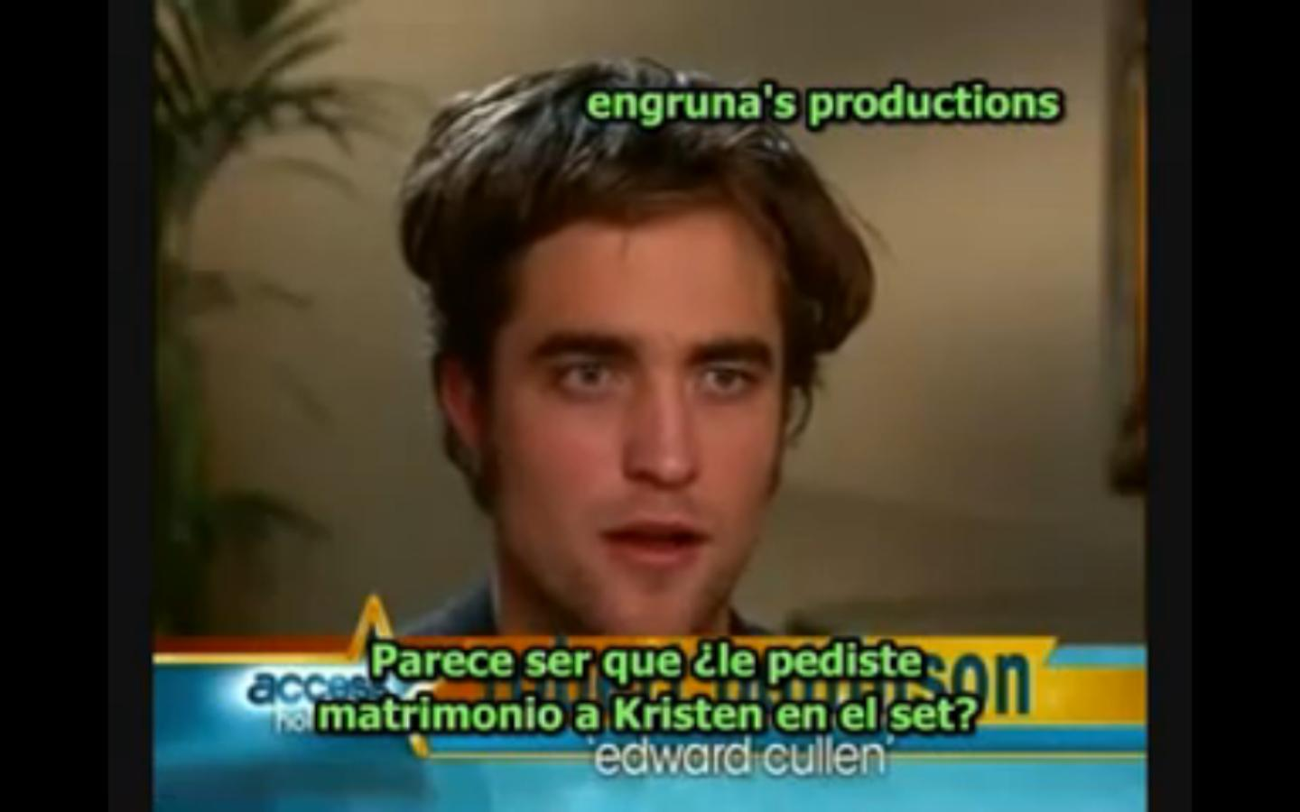 Twilight - Rob Pattinson en Access Hollywood (p2) subs español