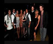 El cast de Crepúsculo durante el Backstage de los Teen Choice Awards 2009